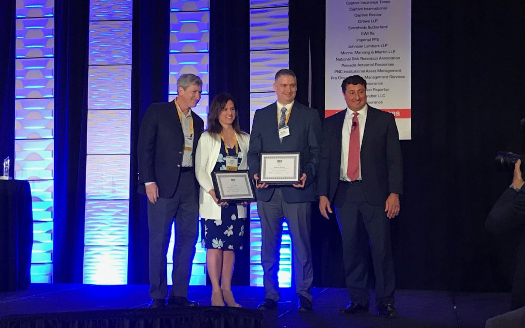 Matthew Devaney Presented with Associates in Captive Insurance Designation at 2019 CICA Conference